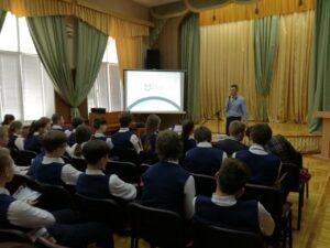 Meeting students in Ukraine