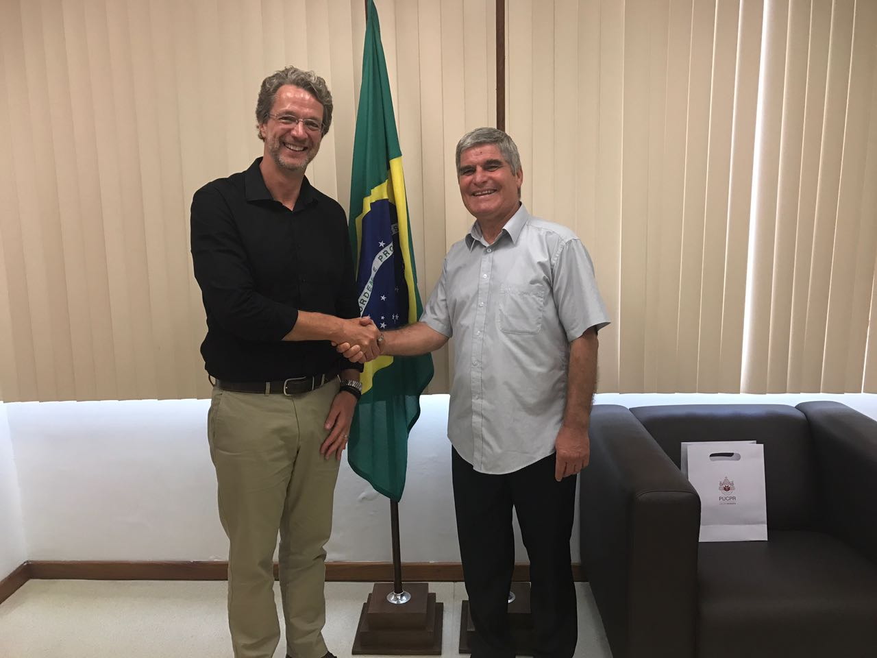 prof. Radev, VUM's president visiting universities in Brazil