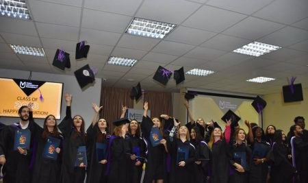 Garduation of Class 2018 at Varna University of Management