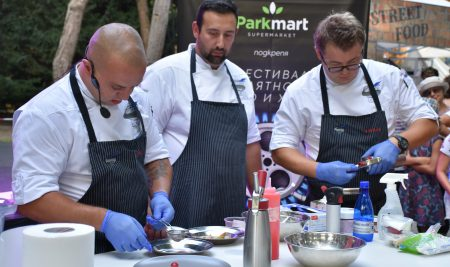 Our chef instructors at the Street Food & Art Festival, Varna