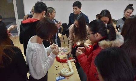 "Students from 12 countries in the ""Martenitsa Day"" Charity Workshop"