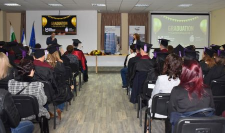 Graduation of Class 2019 at Varna University of Management