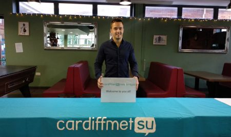 An IBM Student represents VUM at a Cardiff Met Students' Union Partner Event